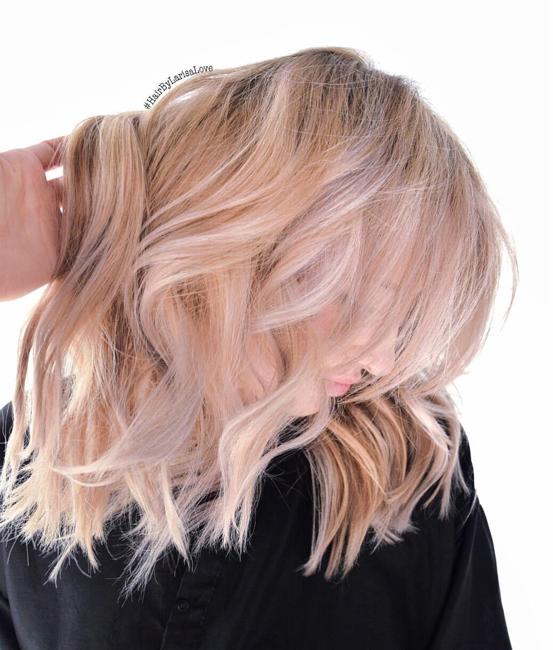 15 strawberry blonde bob with white highlights
