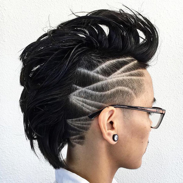 15 womens mohawk with carved designs