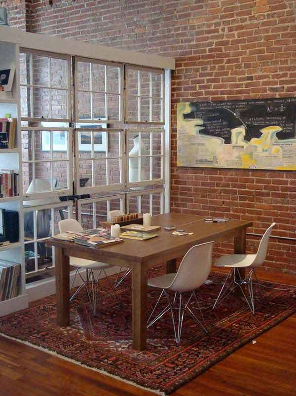 16 Room divider made from old windows