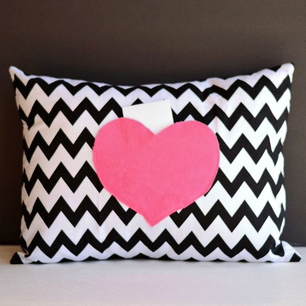 16 Secret Love Notes Envelope Pillow Cover