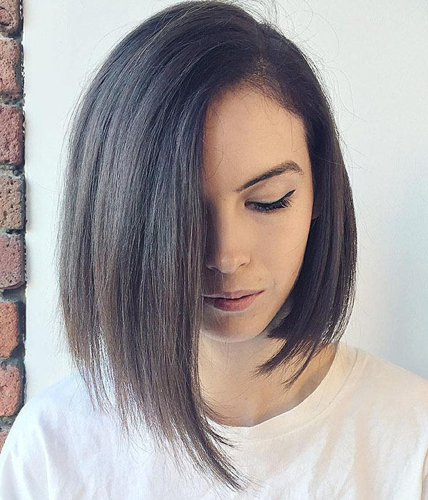 16 asymmetrical bob for straight hair