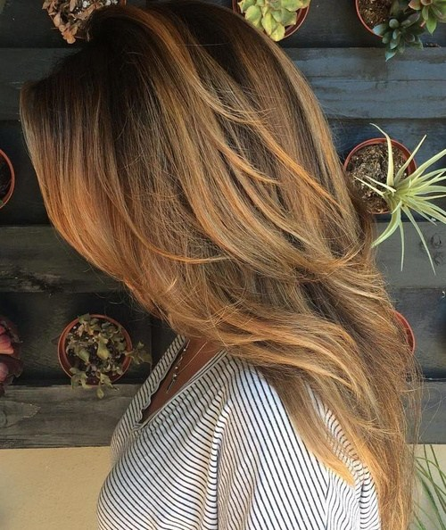 16 caramel balayage for brunettes