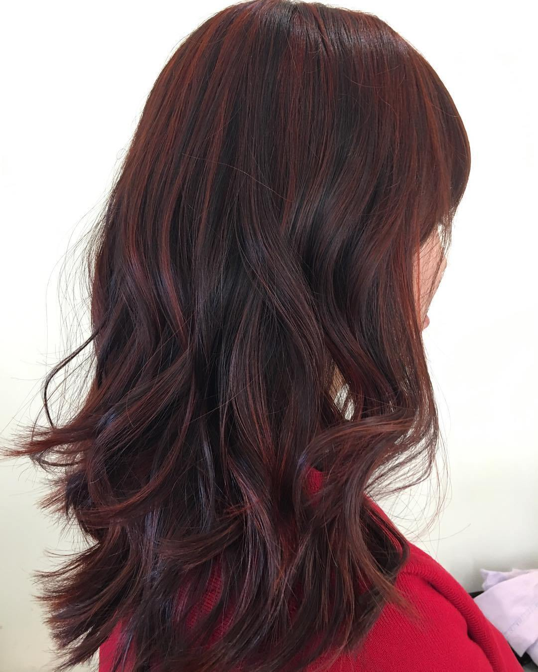40 Shades Of Burgundy Hair Dark Burgundy Maroon Burgundy With Red