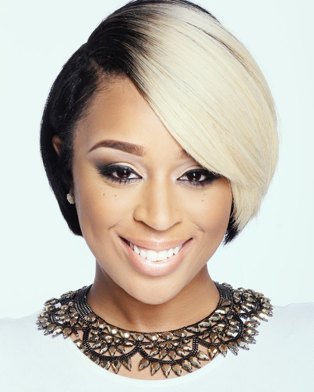 16 short black and blonde hairstyle