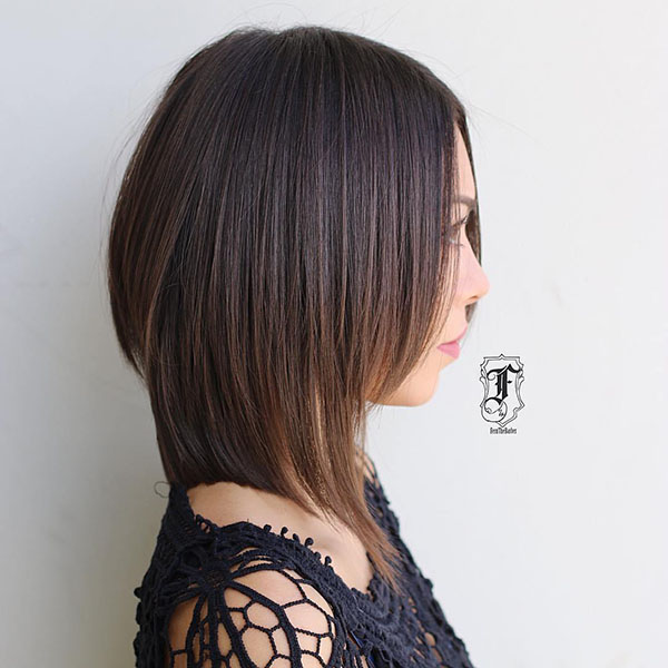 16 shoulder length brown bob