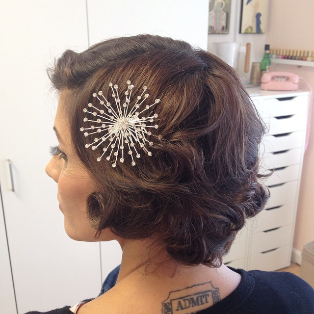 16 vintage bridal hairstyle for short hair