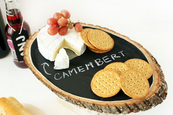 17 Chalkboard Cheese Tray