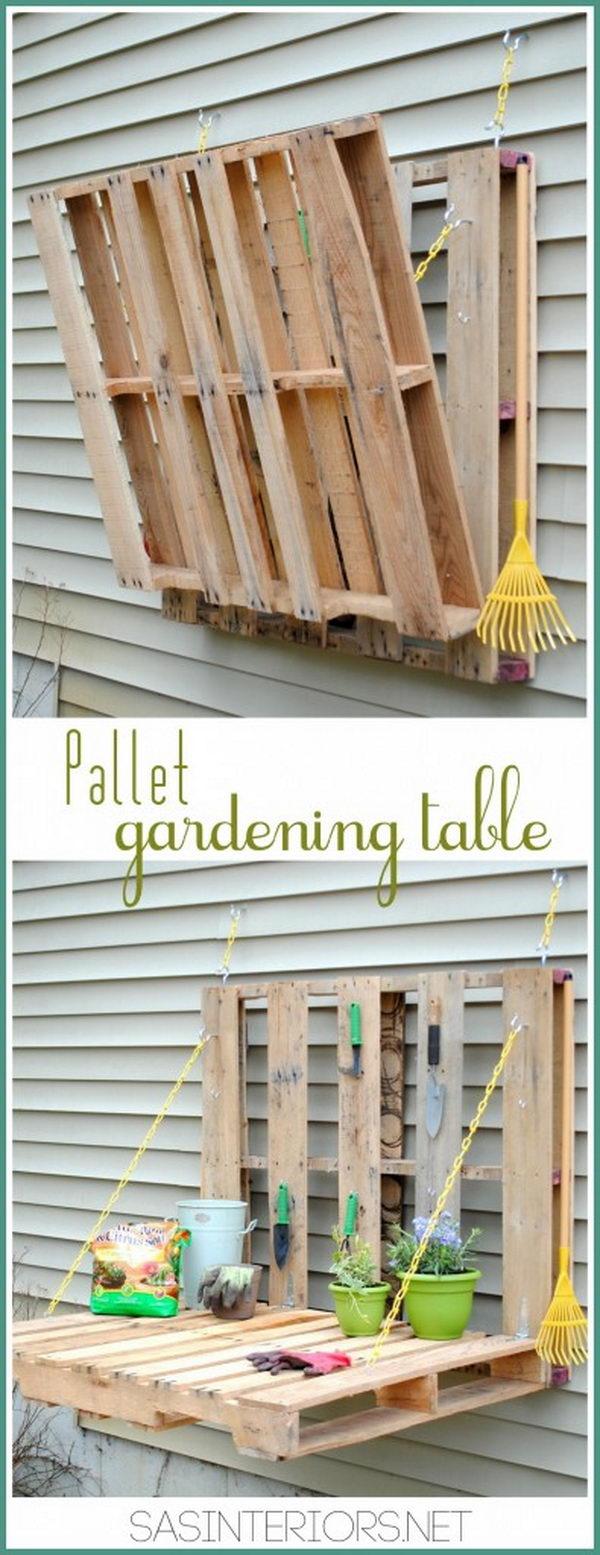 17 DIY Pallet Gardening Table