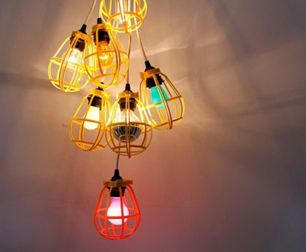 17 Work Light Chandelier