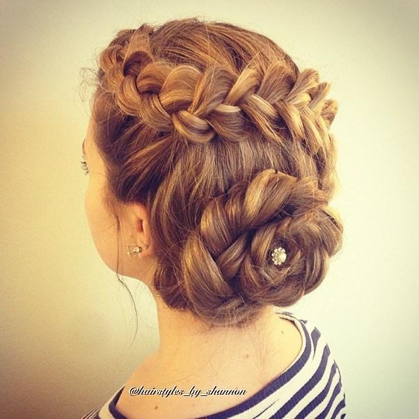 17 braided florette updo for long hair