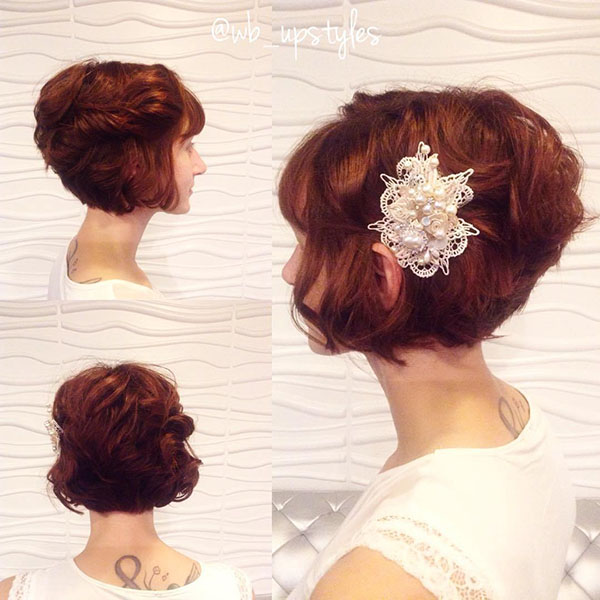 17 bridal curly bob hairstyle