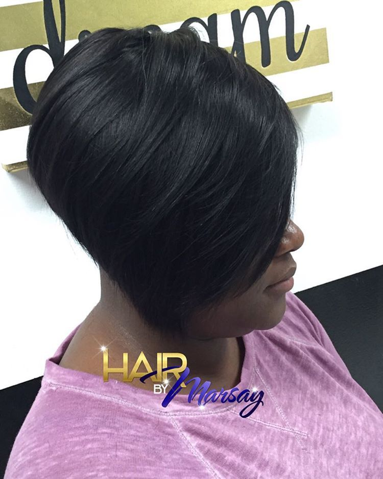 17 short black stacked bob