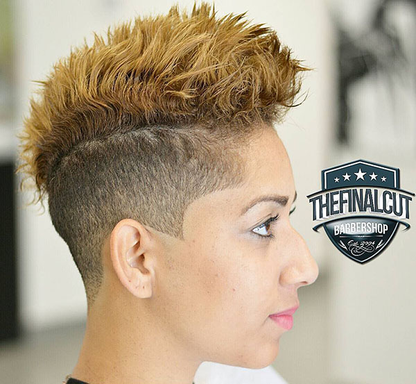 17 womens choppy two tone mohawk