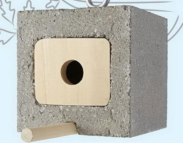 18 Cinder Block Birdhouse
