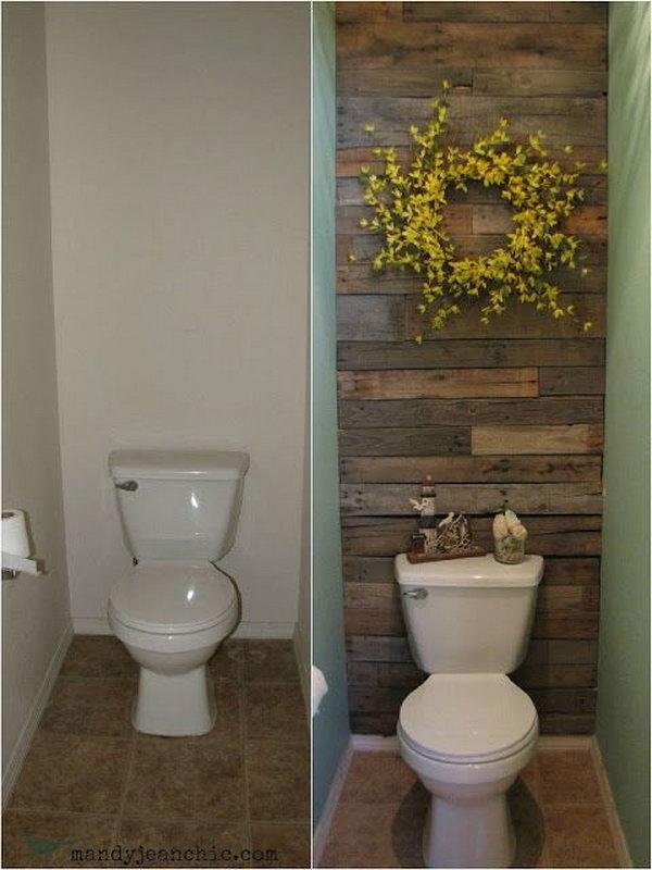 18  Pallet Wood Bathroom Wall Reveal