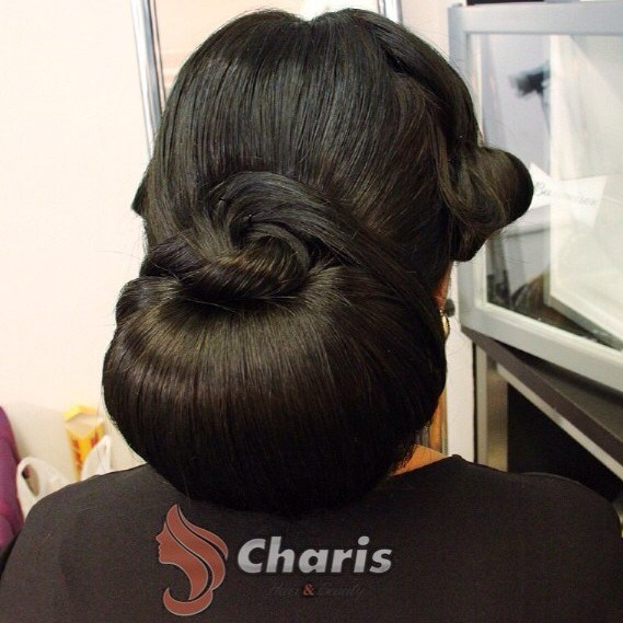 18 formal chignon for long thick hair