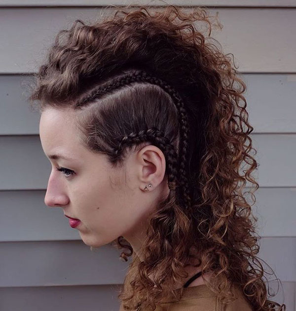 18 permed mohawk with side braids