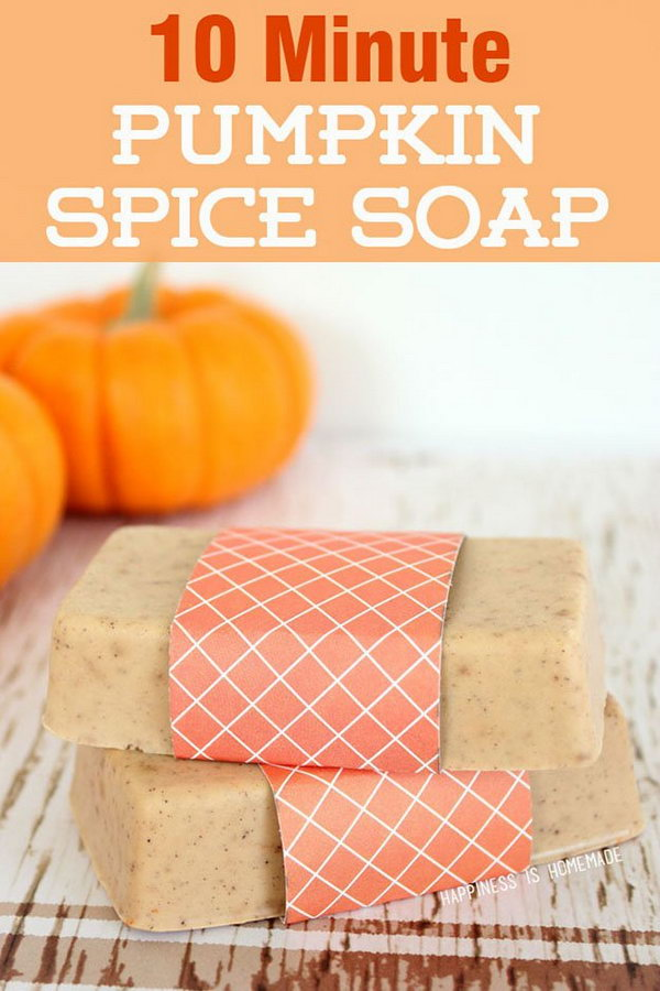 19 How to make a DIY Pumpkin Spice Soap in 10 minutes