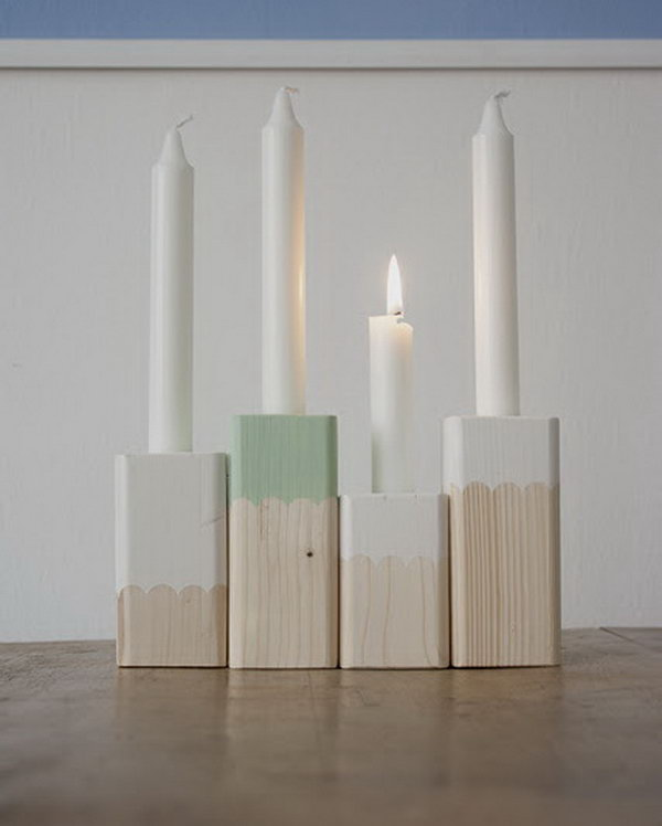 19 Paint-Dipped Candle Holders