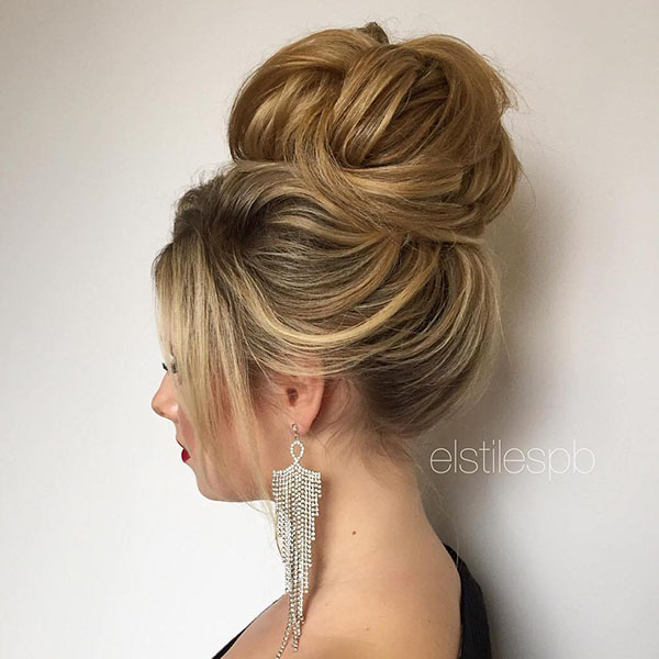 19 big high bun for prom