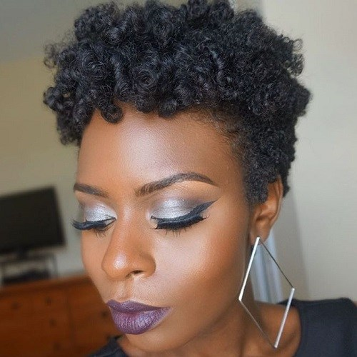 19 short natural hairstyle for women