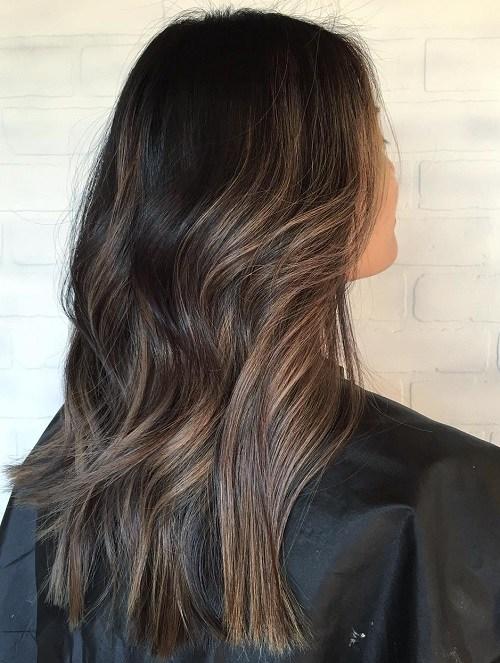 19 subtle brown balayage hair