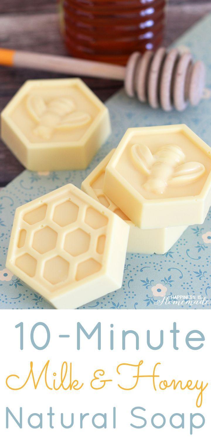 2 DIY All-Natural Milk & Honey Soap Tutorial