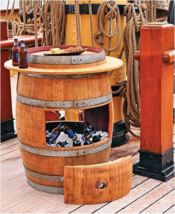2 DIY Wine Barrel Cooler