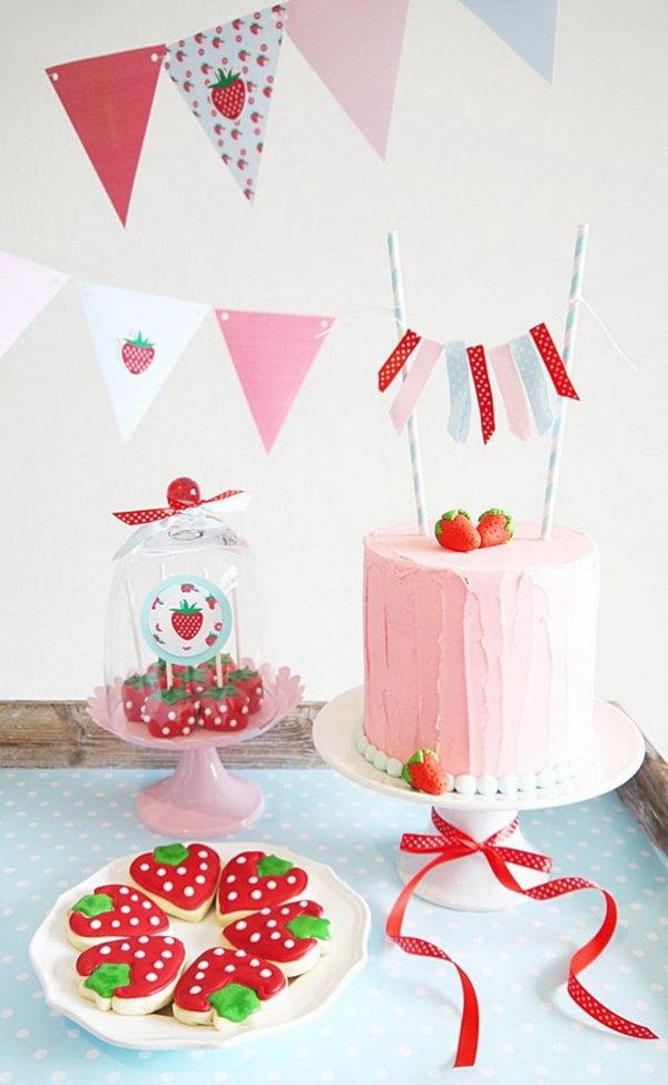 2 Sweet Strawberry Dessert Display