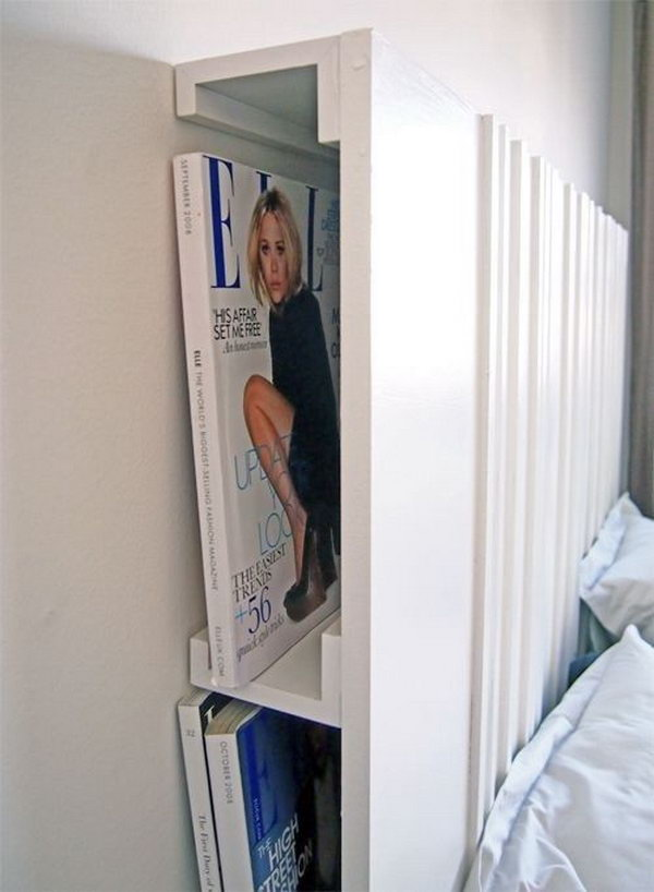 2 The Ribba picture ledge attached to a headboard provides another place for your reading material