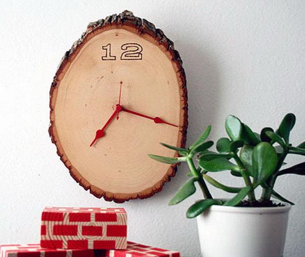 2 Wood Slice Clock