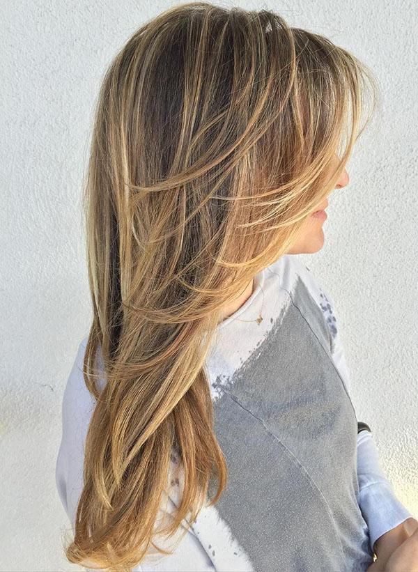 2 layered haircut for long fine hair