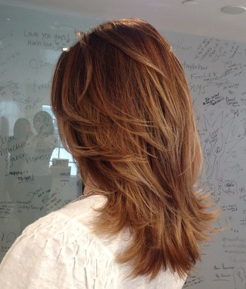 2 medium layered haircut