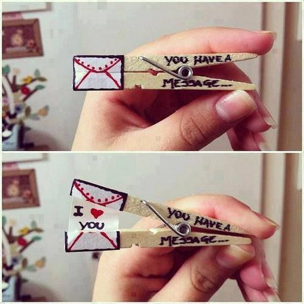 20 Clothespin Love Message