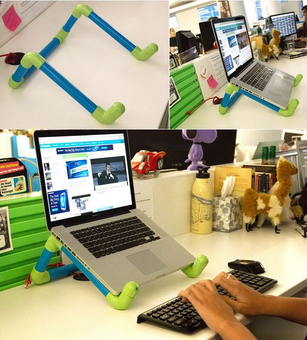 20 Colorful DIY PVC Pipe Laptop Stand