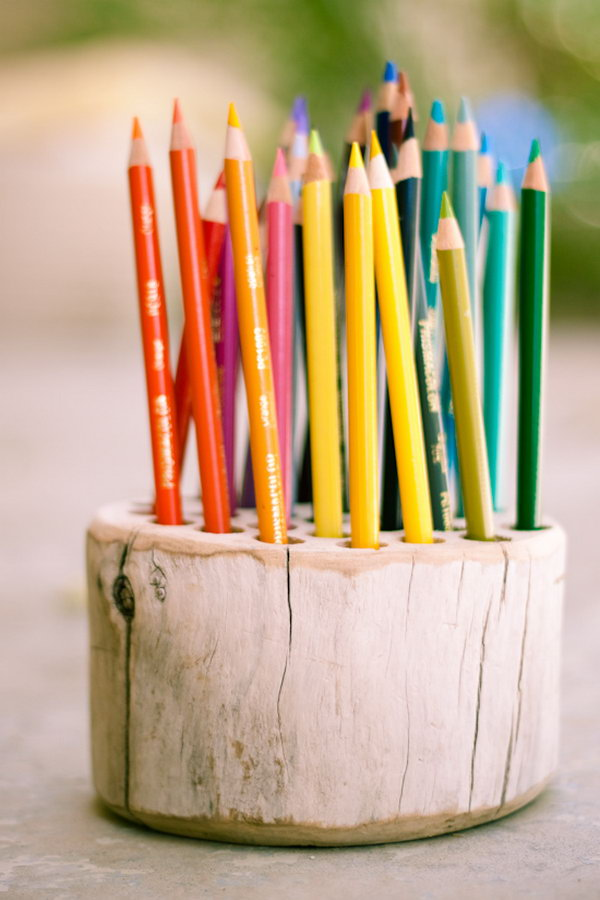20 Rustic Pencil Holder