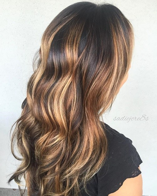20 caramel balayage for black hair