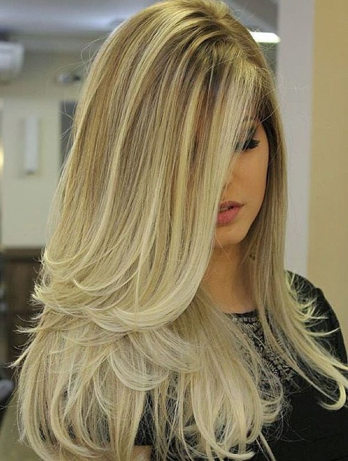 20 long blonde ombre blowout hairstyle