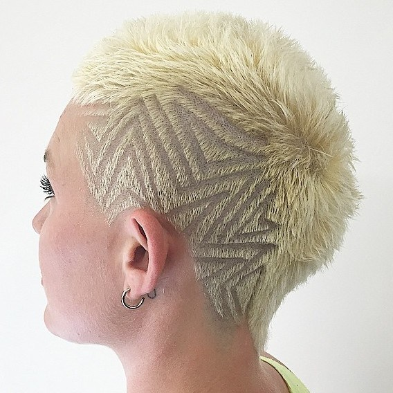 20 womens extra short blonde mohawk
