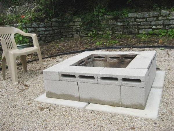21 Concrete Block Fire Pit