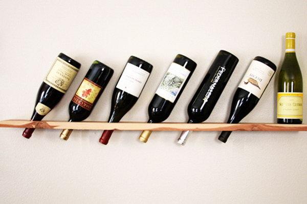 21  Wood Plank Wine Rack