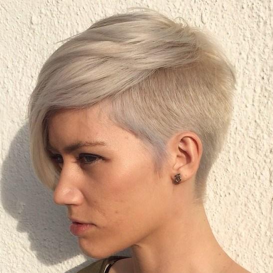 21 ash blonde pixie with side undercut