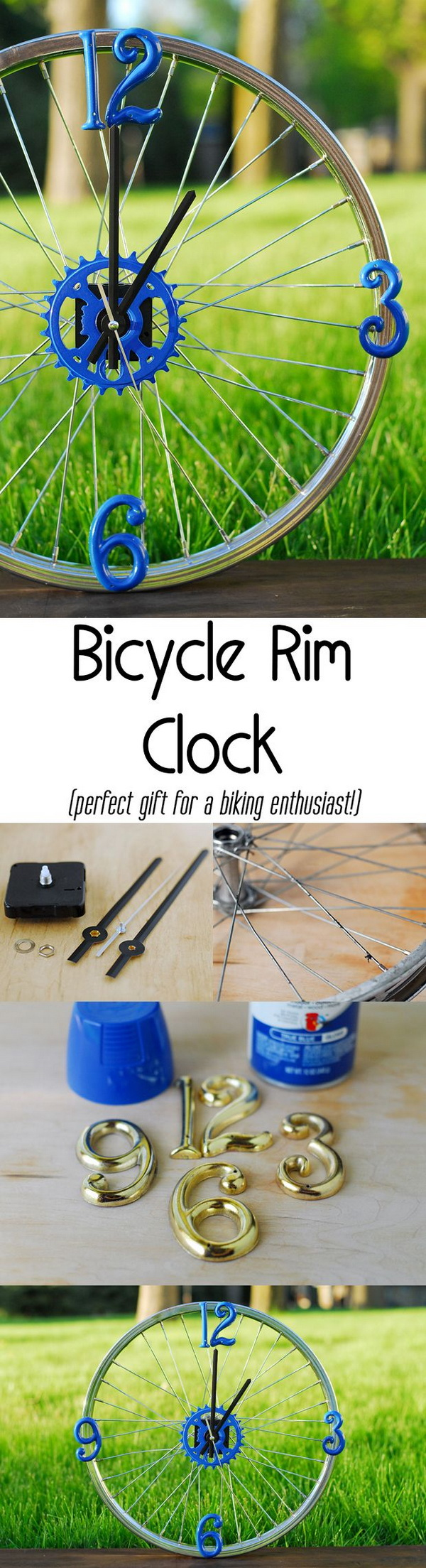 22 DIY Bicycle Wheel Clock