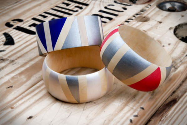 22 Painted Wooden Bangles