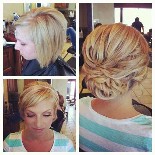 22 Short hair wedding updos