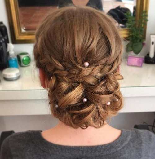 22 long hair prom chignon updo