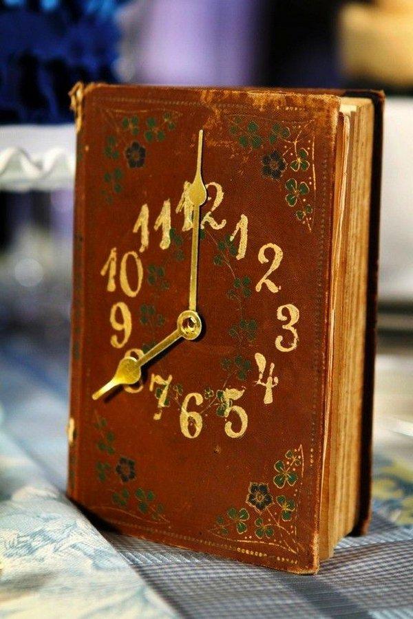 23 Vintage Book Clock