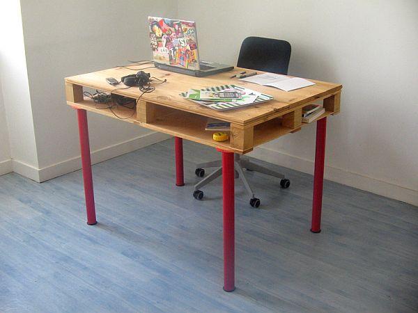 24 Basic Pallet Computer Desk