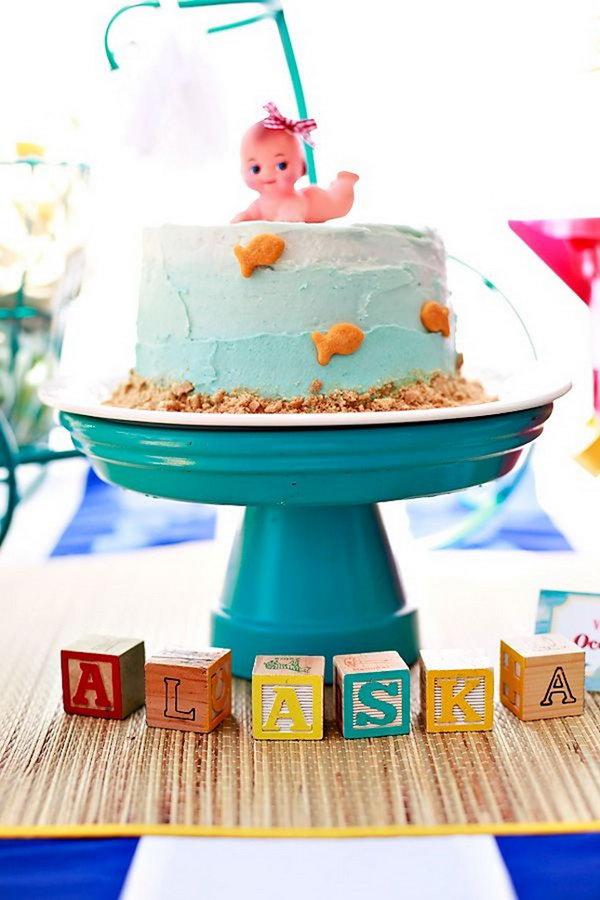 24 Beach Baby Cake