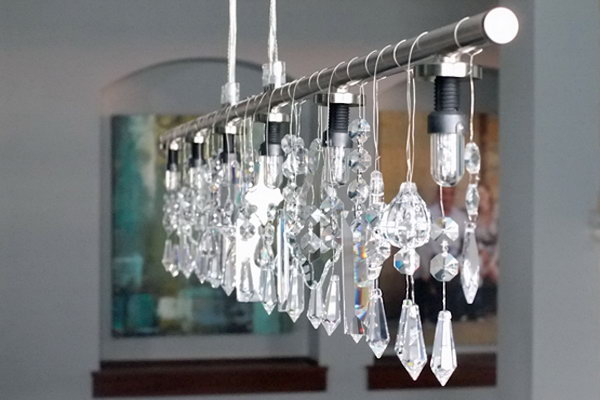 24  Linear and Crystal Chandelier